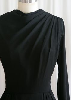 4fd29f0086 Drama Society dress vintage 50s dress black rayon 50s