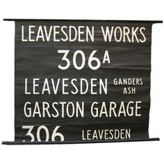 Leavesden England Trolley Sign, $305, now featured on Fab.