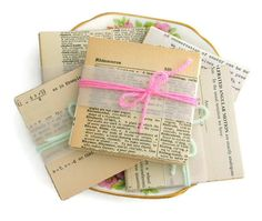 $4.50 These lovely bundles of vintage papers are so versatile! Use them for journals, cards, collages, smash books, make super teeny tiny envelopes