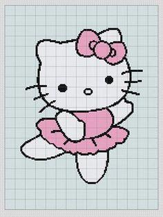 Hello Kitty - Afghan chart pattern