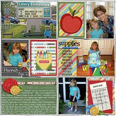 Digital Scrapbook Page Layout by Juli using the Favorite Teacher Kit from Etc by Danyale at The Lilypad #etcbydanyale #digitalscrapbooking #memorykeeping #vintage #backtoschool