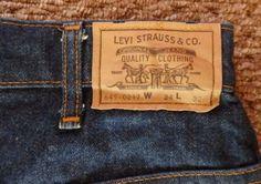 LEVIS 649 VINTAGE JEANS 32  x 32  ORANGE TAG