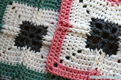 This modern granny square pattern takes inspiration from tapestry crochet techniques to create a pretty but durable piece of work. It would be perfect as a coaster, or as part of multiple squares for a blanket or cushion cover. Crochet Squares Afghan, Granny Square Crochet Pattern, Crochet Blocks, Crochet Motif, Crochet Patterns, Granny Squares, Crochet Granny, Crochet Crafts, Easy Crochet