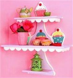 Cupcake shelf! I'm going to make my dad make me one!!! hehe