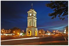 FEILDING, Manawatu, New Zealand - clock tower Kiwiana, Small Towns, New Zealand, Tower, Clock, Explore, Group, Building, Board