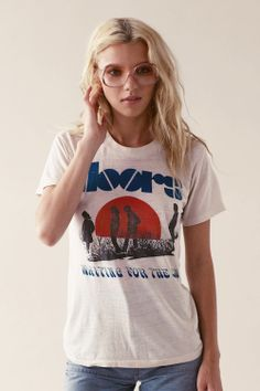 Hello, I love you. Here it is, our most coveted vintage Doors tee, ever. This badboy is ridiculously rare - the band didn't make many tees until the late 70's, so this is one of very few released with their 1968 album 'Waiting for the Sun'. A perfectly paper-thin, vtg-white, soft as (a young & foxy) Jim Morrison's bum, you'll never want to take-it-off, tee... http://stonedimmaculatevintage.com/collections/all/products/waiting-for-the-sun-tee