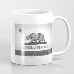 Available in 11 and 15 ounce sizes, our premium ceramic coffee mugs feature wrap-around art and large handles for easy gripping. Dishwasher and microwave safe, these cool coffee mugs will be your new favorite way to consume hot or cold beverages. #bearflag