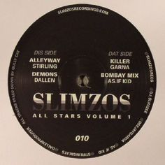 The artwork for the vinyl release of: Stirling | Dallen | Garna | As If Kid - Slimzos All Stars Volume 1 (Slimzos) #music Bass