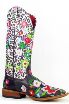 Macie Bean Womens Smokey & The Bandit Snow Leopard Cowgirl Boots by Anderson Bean