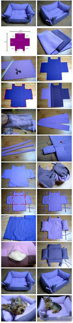 Diy Pet Bed | Click to see More DIY  Crafts Tutorials on Our Site.