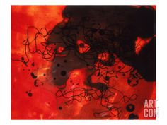 Abstract Image in Red and Black Giclee Print by Daniel Root at Art.com
