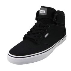 84194f79d47ca1 VANS Men Shoes Atwood Hi Top Black Canvas Medium 10.5 Fashion Sneakers   VANS  AthleticSneakers