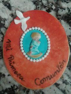 Galleta para comunión de fondant