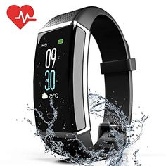 ZyMaSh Fitness Tracker – Color Smart Watch – Heart Rate Fitness Tracker – Waterproof ‎Fitness Watch – Fit Watch Tracker Pedometer for Men, Women, Kids – Activity Tracker - Reich Fitness Watches For Women, Watches For Men, Waterproof Fitness Tracker, Best Golf Clubs, Gps Tracking, Heart Rate Monitor, Smart Watch, Athletics, Fitness Exercises