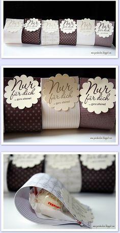 nette einfache Idee... vor allem wenn man mherere beschenken will. Geschenk für dich für ihn für sie Partner Freund Liebling www.wonnewerk.de
