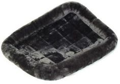 Midwest Quiet Time Pet Bed - Plush Fur Pearl Gray - 48