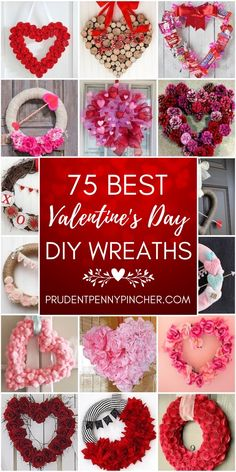 Spread the love with these romantic DIY Valentine's Day Wreaths. From rose wreat Spread the love with these romantic DIY Valentine's Day Wreaths. From rose wreaths to heart wreaths, there are plenty of Diy Valentines Day Wreath, Valentines Day Decorations, Valentines Day Party, Valentine Day Crafts, Valentine Special, Heart Decorations, Diy Craft Projects, Kids Crafts, Creative Crafts