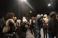 Press and Media Backstage at Fashion Week