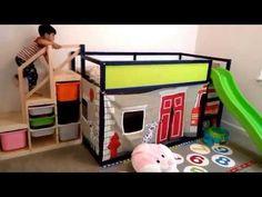kura bed hack slide bed hack fire engine play and slide structure ikea kura bed hack slide Kura Cama Ikea, Ikea Kura Hack, Kura Bed, Ikea Hacks, Ikea Loft Bed Hack, Trofast Hack, Bed With Slide, Bed Slide, Kids Bunk Beds