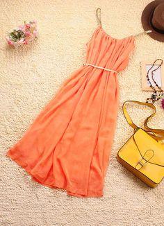 Pure Orange Ladies Sundress