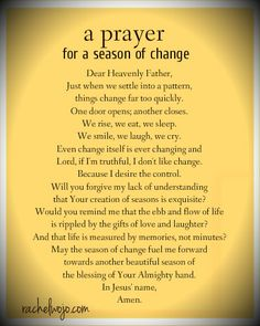 a prayer for a season of change