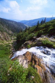 Waterfall in Krkonose National Park, Czech Republic Scenery Pictures, Nature Pictures, Places To Travel, Places To See, Blog Voyage, Fantasy Landscape, Nature Reserve, Nature Scenes, Natural Wonders