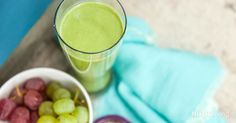 This Blast recipe from Phase 3 of our NutriBullet Transformation Plan will help clean out your colon and get you on your way toward a healthier detox. The dark, leafy collard greens contain cancer-fig. Nutribullet Juice Recipes, Protein Smoothie Recipes, Healthy Smoothies, Healthy Drinks, Healthy Recipes, Healthy Eating, Healthy Foods, Clean Eating, Detox Recipes