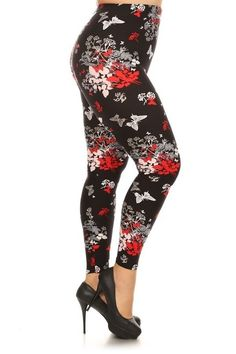 Plus Butterfly Kisses Legging