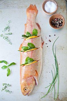 <º))))><¸ Bereiding van vis....