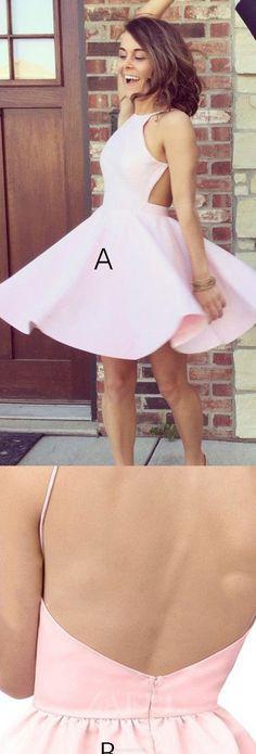 Prom Dresses 2017, Short Prom Dresses, 2017 Prom Dresses, Pink Prom Dresses, Sexy Prom dresses, Halter Homecoming Dresses, Halter Prom Dresses, Short Pink Prom Dresses, Prom Dresses Short, Short Homecoming Dresses, Homecoming Dresses 2017, Sleeveless Prom Dresses, Pink Sleeveless Prom Dresses, 2017 Homecoming Dress Sexy A-line Halter Short Prom Dress Party Dress #shortpromdresses
