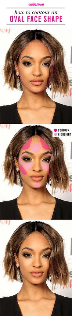 How to contour if you have an oval face shape.