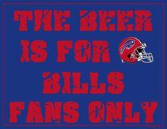 buffalo bills signs | Printable Buffalo Bills Man Cave Sign