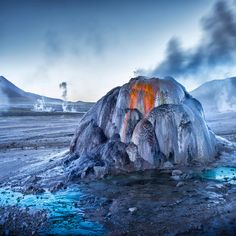 El Tatio geysers at sunrise, Atacama desert, Chile by Ignacio Palacios Chili, Stunning Photography, Travel Photographer, Guinness, South America, The Best, Sunrise, Scenery, Places To Visit