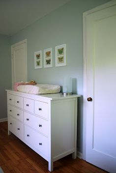 Light gray baby girl nursery