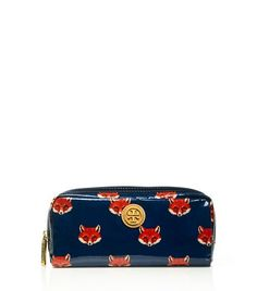 Printed Coated Poplin Cosmetic Case | Womens Small Accessories | ToryBurch.com
