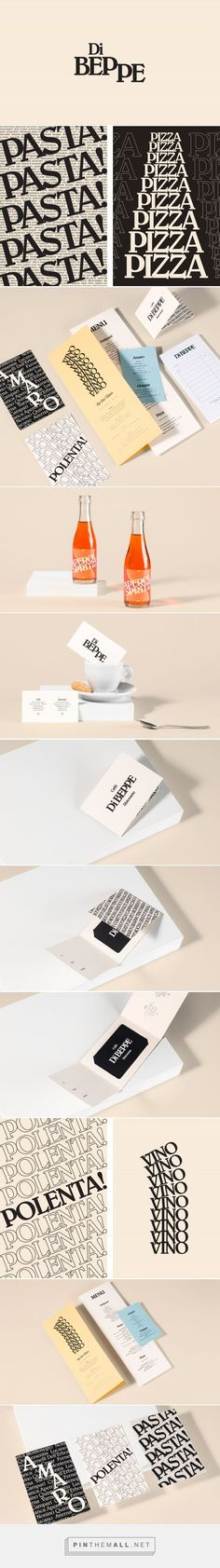 New Graphic Identity for Di Beppe by Glasfurd & Walker — BP&O... - a grouped images picture - Pin Them All