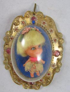 Mattel Lola Lucky Locket Kiddle Doll 1967 HTF by adolladaystl, $22.00