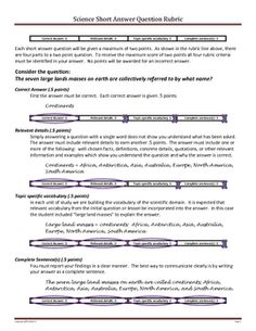 Help your students develop good writing habits in the science classroom.  This one-line rubric can be added to your labs, tests and homework assign...