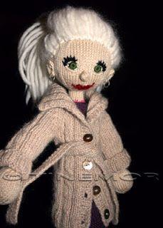 made by tinemor: Ny oppskrift til strikkedukkene! Knit Crochet, Teddy Bear, Dolls, Knitting, Animals, Fictional Characters, Art, Puppets, Breien