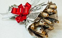 Букет из рыбы - подарок на 23 февраля - идея, 10 фото в разделе Еда