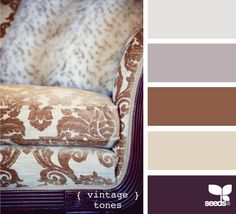 """Vintage"" palette via Design Seeds Scheme Color, Color Palate, Colour Schemes, Color Combos, Colour Palettes, Design Seeds, Room Colors, House Colors, Paint Colors"