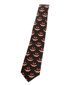 Loving this Black & Orange Jack-o'-Lantern Musical Necktie on #zulily! #zulilyfinds