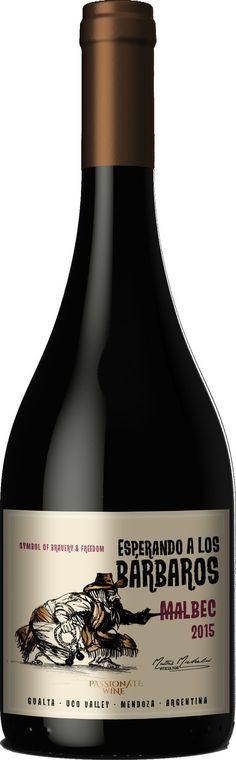 """""""Esperando a los Bárbaros"""" Malbec 2015- Passionate Wine, Tupungato, Mendoza------------------ Terroir: Gualtallary (Tupungato)------------------------------ Sin paso por madera, crianza en huevos de hormigón"""