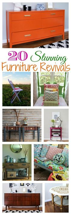 20 Stunning Furniture Revivals {DIY Challenge Features} - The Happy Housie