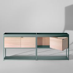 HAY - New Order - Double Cabinet with Trays: Aluminum Cabinets Hay New Order Hay Furniture Awesome Desks New Order Hay Furniture Design Double Cabinets Order Shelves Design Cabinets