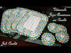 PASSO A PASSO SOUSPLAT E PORTA COPO (JOGO AMERICANO) - PINK ARTES CROCHE by ROSANA RECCHIA - YouTube