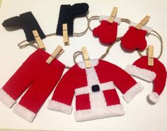 Santas clothing Garland Mini clothing Garland Holiday by BCACrafts