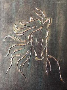 (Notitle) Horse 11 canvas board glue gun metal silver gold unframed abstract 25 wonderful handicrafts for your hot glue gun wonderful handicrafts for your hot glue gun(notitle) Horse 11 canvas board Glue Gun Projects, Glue Gun Crafts, Diy Crafts, Hot Glue Art, Aluminum Foil Art, Glue Painting, 3d Painting On Canvas, Gun Art, 3d Artwork