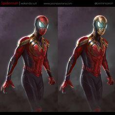Spiderman - Wakanda Suit by Jason Pastrana All Spiderman, Spiderman Suits, Amazing Spiderman, Marvel Comic Universe, Marvel Dc Comics, Dc Universe, Ben Reilly, Iron Man Wallpaper, Marvel Wallpaper