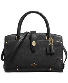 54fdc7614725b Coach Mercer Satchel 24 in Grain Leather Coach Handbags
